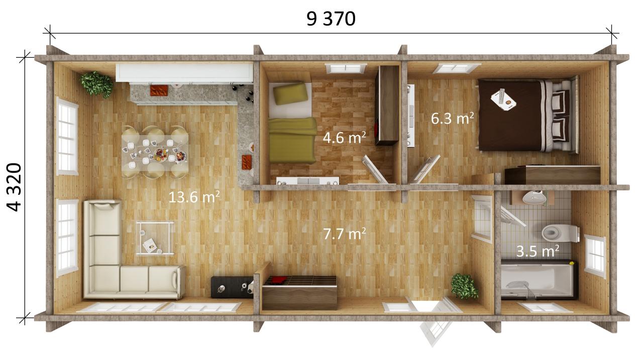 Floor Plan 36 Sqm House Design 2 Storey