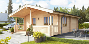 Timber Log Cabin, Granny Flat, CUMBRIA – 55.5 SQM