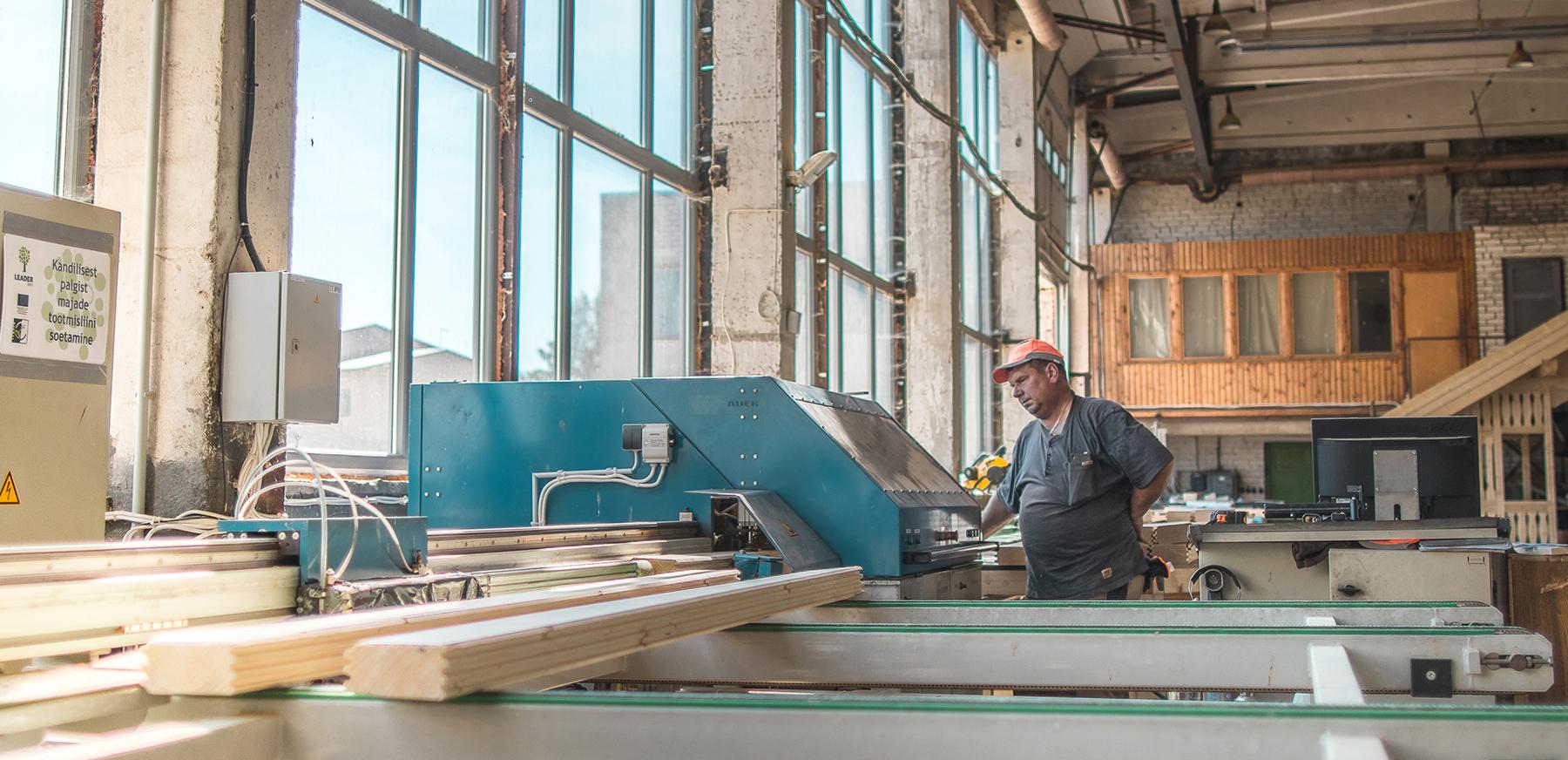 Log Cabin Factory - Rectangle Log Processing