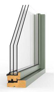 Triple Glazed Window, Log Cabin, Insulation