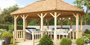 Timber Log Gazebos